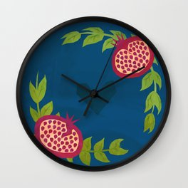 Love Pomegranates Wall Clock