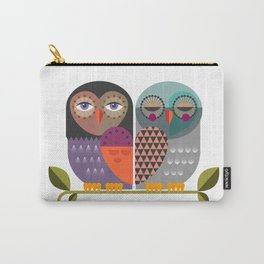 Two Owls Carry-All Pouch