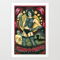 rocky horror picture show Art Prints featuring Frank-N-Furter - Rocky Horror Picture Show by DanaRobinson