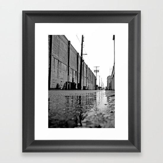 Gritty urban alley Framed Art Print