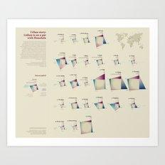 Urban story (Visual Data 16) Art Print