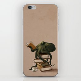 Well-Read Octopus iPhone Skin