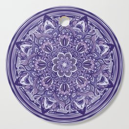 Great Purple Mandala Cutting Board