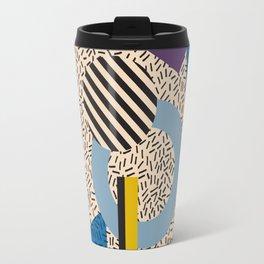 Memphis Inspired Pattern 3 Travel Mug