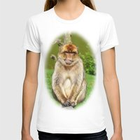 ape T-shirts featuring Barbary ape by Pirmin Nohr
