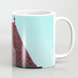 magic roof in Budapest (red) Coffee Mug