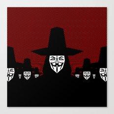 Million Mask March Canvas Print