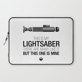 This is my Lightsaber (Luke Version) Laptop Sleeve