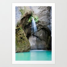 Disappearing waterfall Art Print