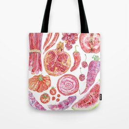 Harvest of Red Tote Bag