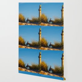 Old lighthouse from Hanseatic city of Rostock Wallpaper