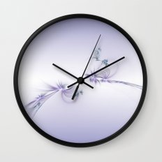 Fey Lights Fractal in Violet Wall Clock