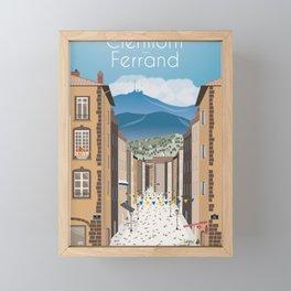 Clermont-Ferrand poster Framed Mini Art Print