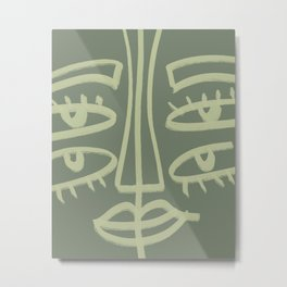 I See You With My 4 Eyes Abstract Face Metal Print