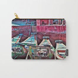 Burmese Taxi Boats Carry-All Pouch