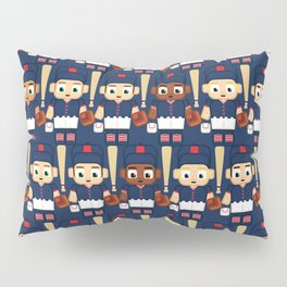 Baseball Navy, Red and White - Super cute sports stars Pillow Sham