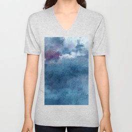 Explosion at sea Unisex V-Neck