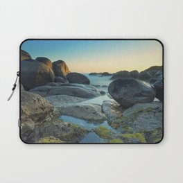 Ocean between the rocks by the beach Laptop Sleeve