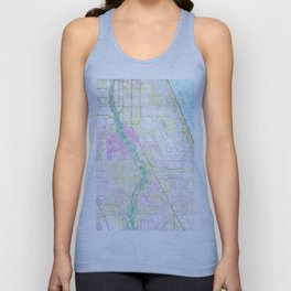 Vintage Map of Port St Lucie Florida (1948) Unisex Tank Top