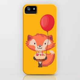Happy Birthday Fox - Fox Design iPhone Case