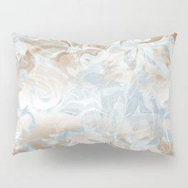 Watercolour in Blue Gold Pillow Sham