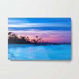 Folly Beach Sunset Metal Print
