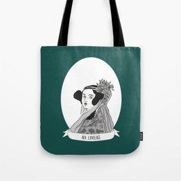 Ada Lovelace Illustrated Portrait Tote Bag