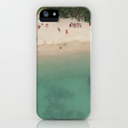 Aerial Secret Beach Koh Phangan Thailand iPhone Case