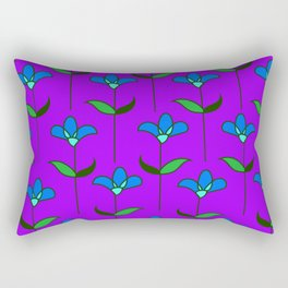 Genevieve - Purple and Blue Rectangular Pillow