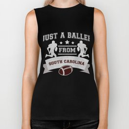 Just a Baller from South Carolina Football Player Biker Tank