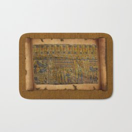 Ancient Egyptian Funerary Scroll pre 944 BC Bath Mat