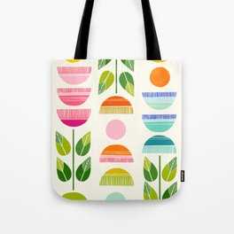Sugar Blooms - Abstract Retro Inspired Design Tote Bag