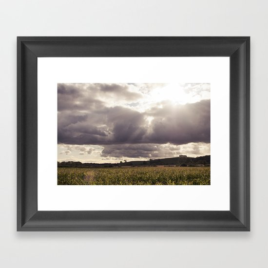 shine forth upon our clouded hills... Framed Art Print