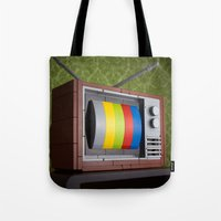 springsteen Tote Bags featuring 57 Channels and Nothing On by powerpig