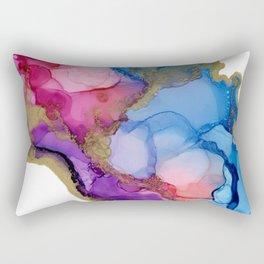 Golden River Flow Rectangular Pillow