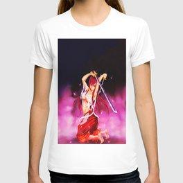 kneeling waving the sword T-shirt