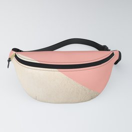 Simply Shadow in White Gold Sands on Salmon Pink Fanny Pack
