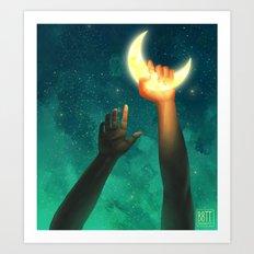 A Moon Has Always Meant Art Print