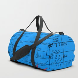 Library Card 23322 Blue Duffle Bag