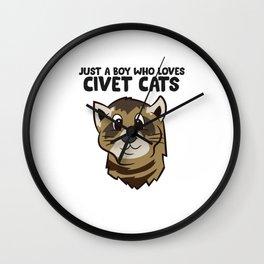 Just a Boy Who Loves Civet Cats Wall Clock