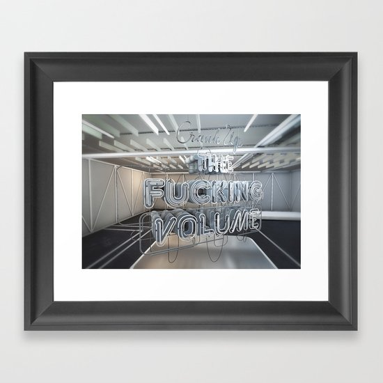Crank Up The Volume Framed Art Print