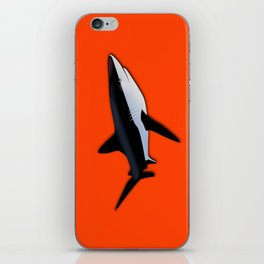Bright Fluorescent Shark Attack Orange Neon iPhone Skin