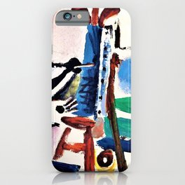 Pablo Picasso - The painter and his model - Digital Remastered Edition iPhone Case