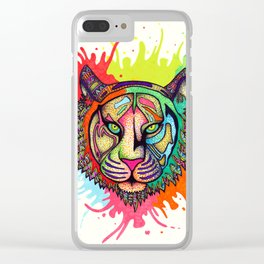 Rainbow Tiger Clear iPhone Case