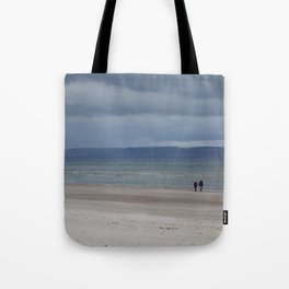 Figures on The Beach at Nairn, Scotland Tote Bag