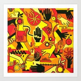 Hand Hazards Art Print