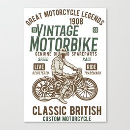 Great Motocycle Legends Canvas Print