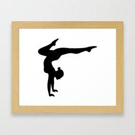 B&W Contortionist Framed Art Print