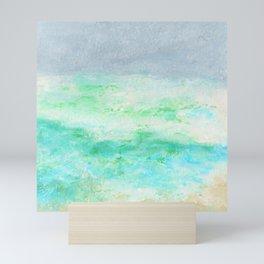 Brielle1 Seashore Oil Pastel Drawing Mini Art Print