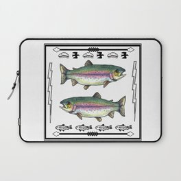 Double Rainbow Trout Laptop Sleeve